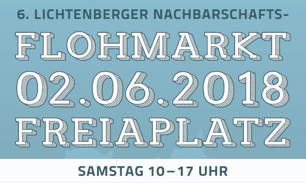Ankündigung zum Flohmarkt am 2.6.2016 Freiaplatz