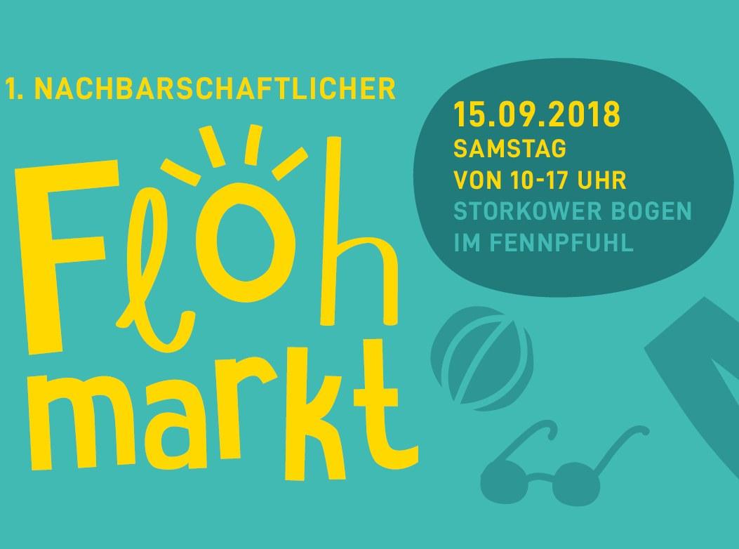 Ankündigung zum Flohmarkt am 15.09.2018 im Fennpfuhl