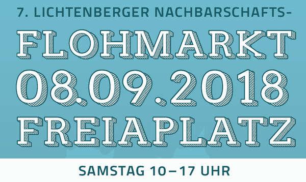 Flohmarktankündigung Freiaplatz 8.September 2018