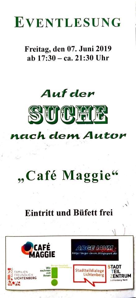Auf der Suche nach dem Autor - cafe Maggie