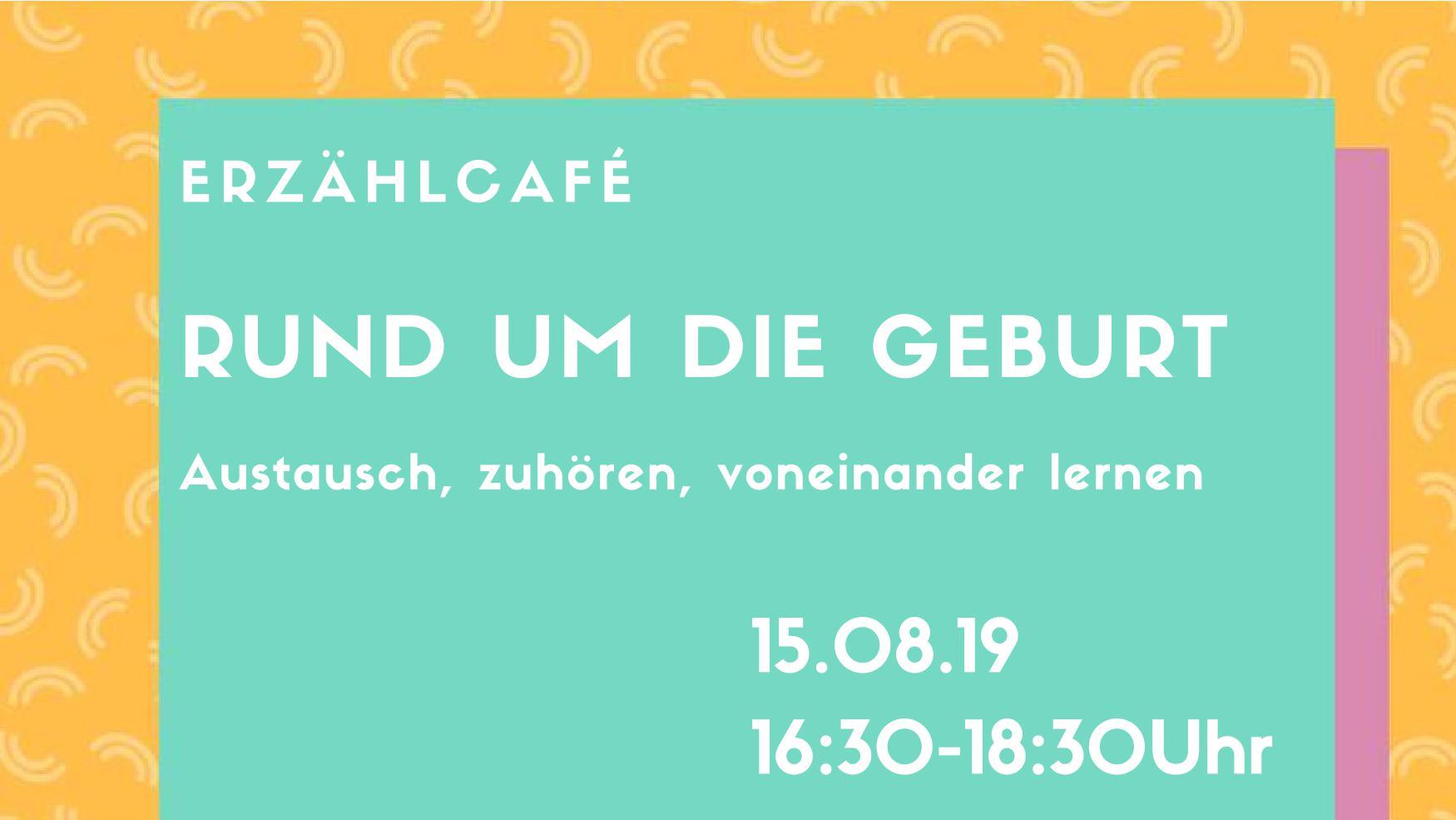 Ankündigung zum ErzÄhlcafé am 15.08.2019