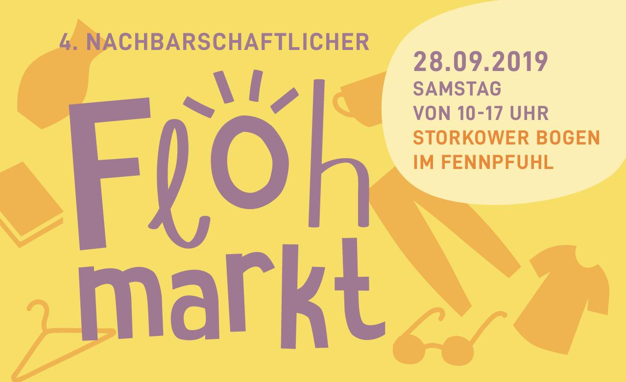 Ankündigung zum Flohmarkt am 28.09.2019 im Fennpfuhl in Berlin Lichtenberg