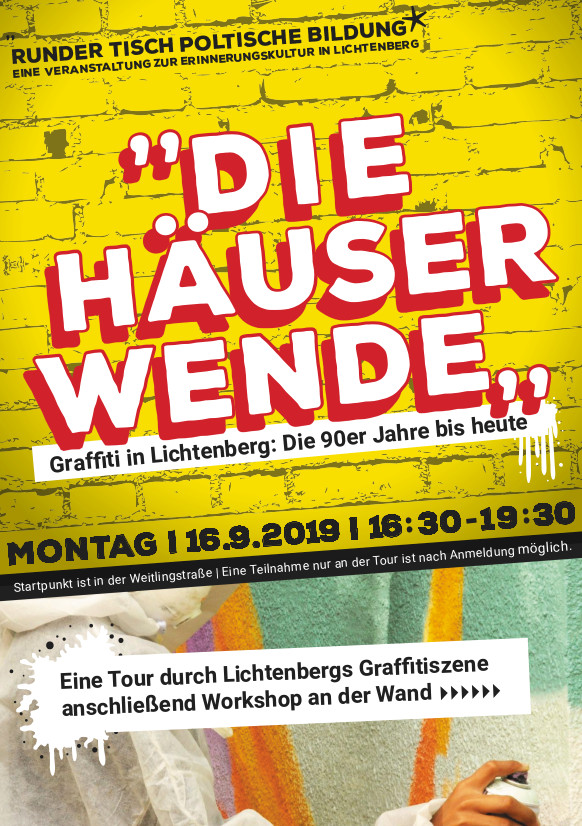 Graffiti Tour und Workshop 16.9
